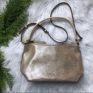 Calvin Klein Gold Handbag w/ Shoulder Strap